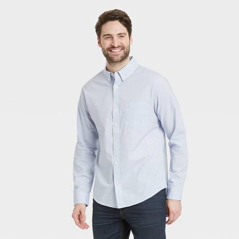Men's Regular Fit Stretch Poplin Long Sleeve Button-Down Shirt - Goodfellow & Co™ - image 1 of 3