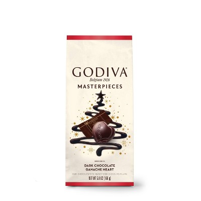 Godiva Masterpiece Holiday Dark Chocolate Ganache Heart - 5.3oz