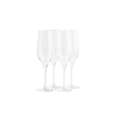 Stolzle Lausitz Grand Epicurean Crystal 10 Ounce Champagne Flute Glass, Set of 4