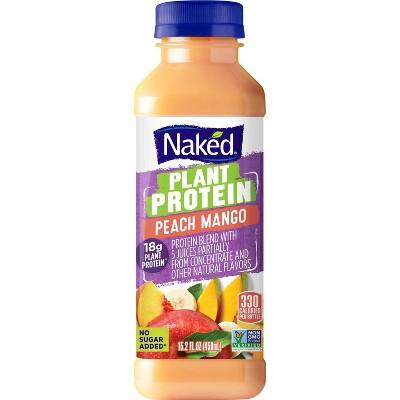 Naked Juice Plant Protein Peach Mango - 15.2 fl oz