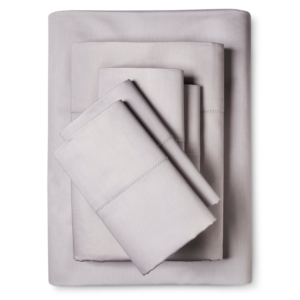 Image of 6pc Luxury Estate 1200 Thread Count Sheet Set (King) Silver - Elite Home