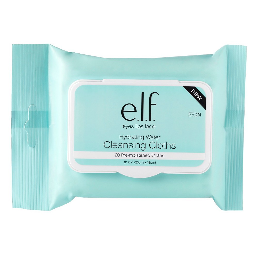 e.l.f. Hydrating Water Cleansing Cloths - 20ct