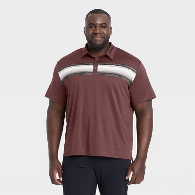 Men's Chest Striped Polo Shirt - All in Motion™