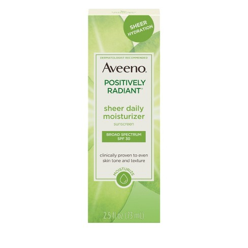 Aveeno Positively Radiant Sheer Daily Moisturizing Lotion - Dry Skin - SPF 30 - 2.5 fl oz - image 1 of 11