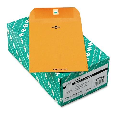 Quality Park Clasp Envelope #55 6 x 9 32lb Brown Kraft 100/Box 37755 - image 1 of 1