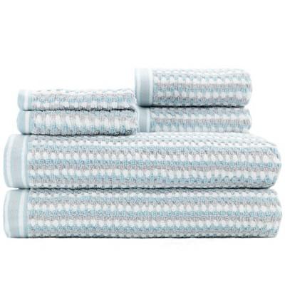6pc Wakefield Bath Towel Set Light Blue - CARO HOME