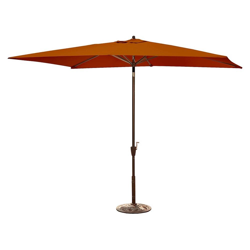 Island Umbrella Adriatic Market Umbrella in Beige Sunbrella - 6.5' x 10'