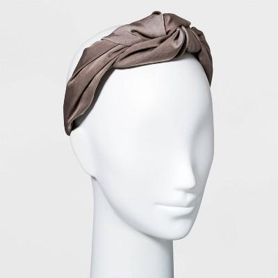 Satin Puffy Knot Headband - A New Day™