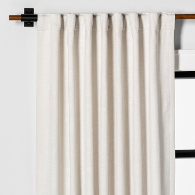95  Curtain Panel Solid Sour Cream - Hearth & Hand™ with Magnolia
