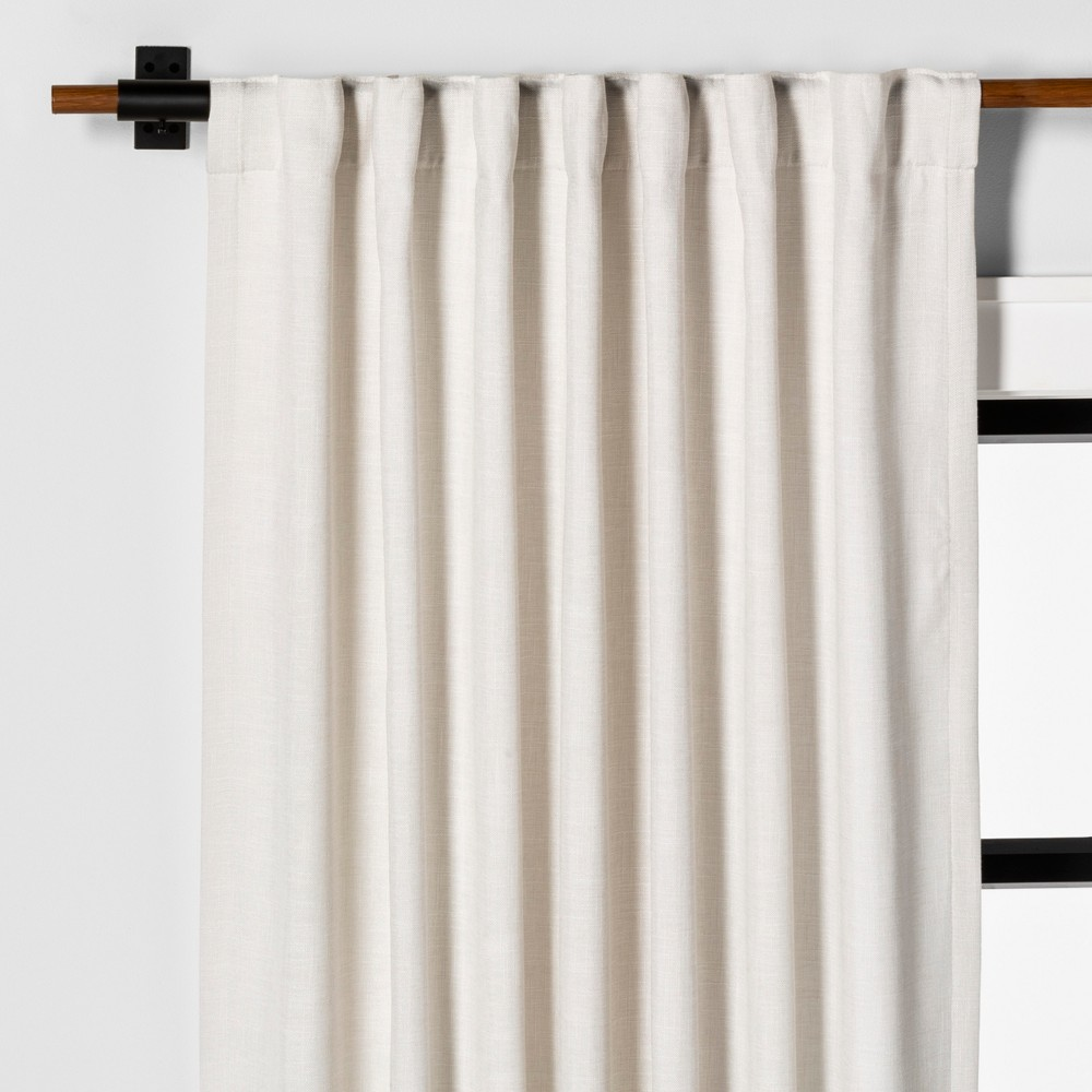 Image of 108 Curtain Panel Solid Sour Cream - Hearth & Hand with Magnolia, White