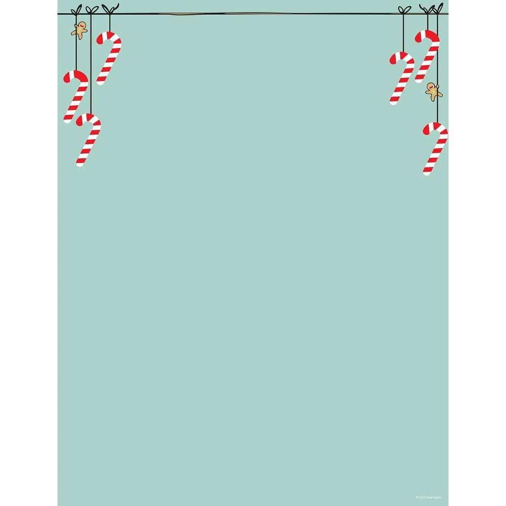 Image of 80ct Minty Candy Canes Letterhead