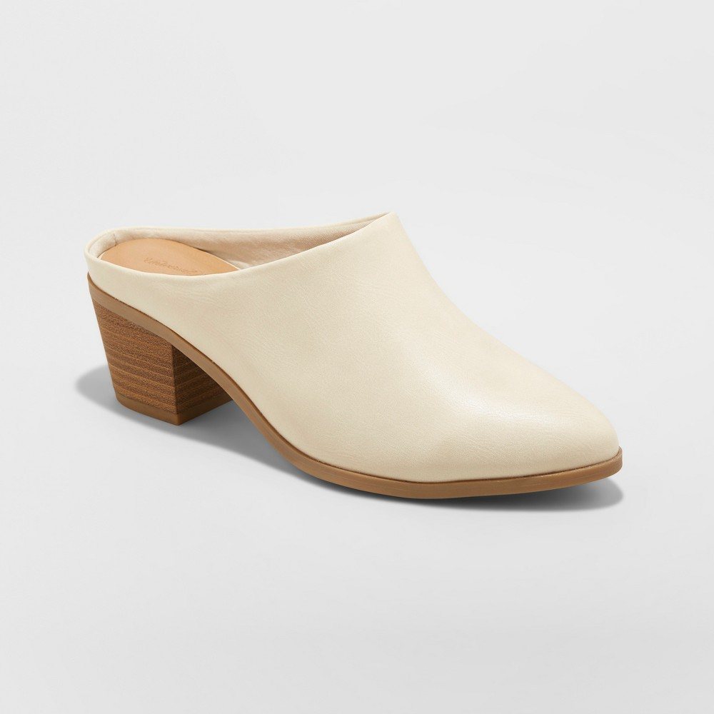Women's Laia Heeled Mule - Universal Thread White 5.5