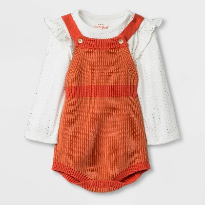 Baby Girls' Top and Bottom Sets - Cat & Jack™ Orange 0-3M