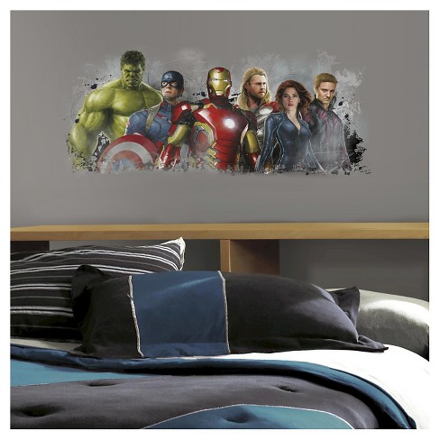 RoomMates Avengers Age of Ultron Distressed Peel and Stick Giant Wall Graphix - image 1 of 1