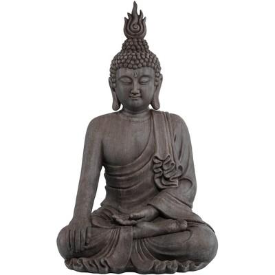 "John Timberland Asian Zen Buddha Outdoor Statue 42"" High Sitting for Yard Garden Patio Deck Home Entryway Hallway"
