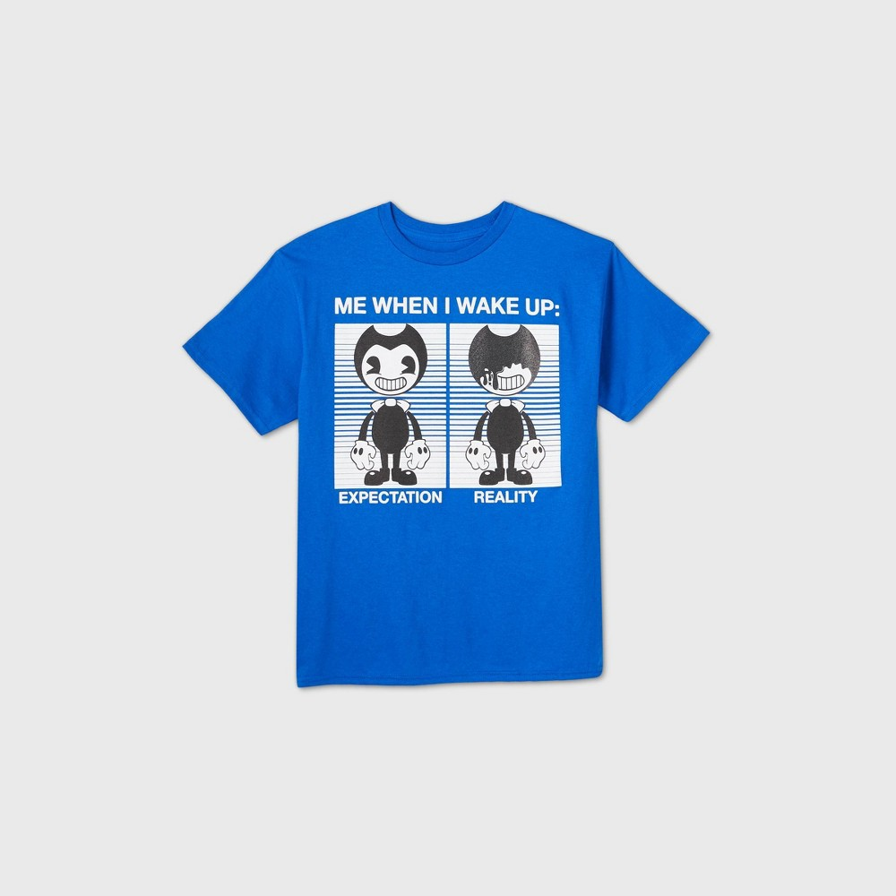 Boys 39 Bendy And The Ink Machine Short Sleeve Graphic T Shirt Blue Xs