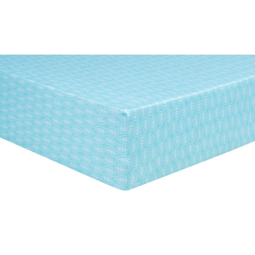 Trend Lab Fitted Crib Sheet Leaves