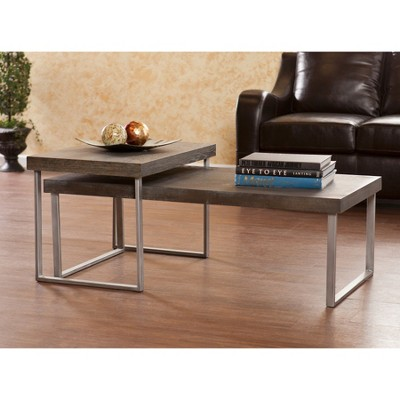 Mixed Material Nesting Coffee Table   Aiden Lane : Target
