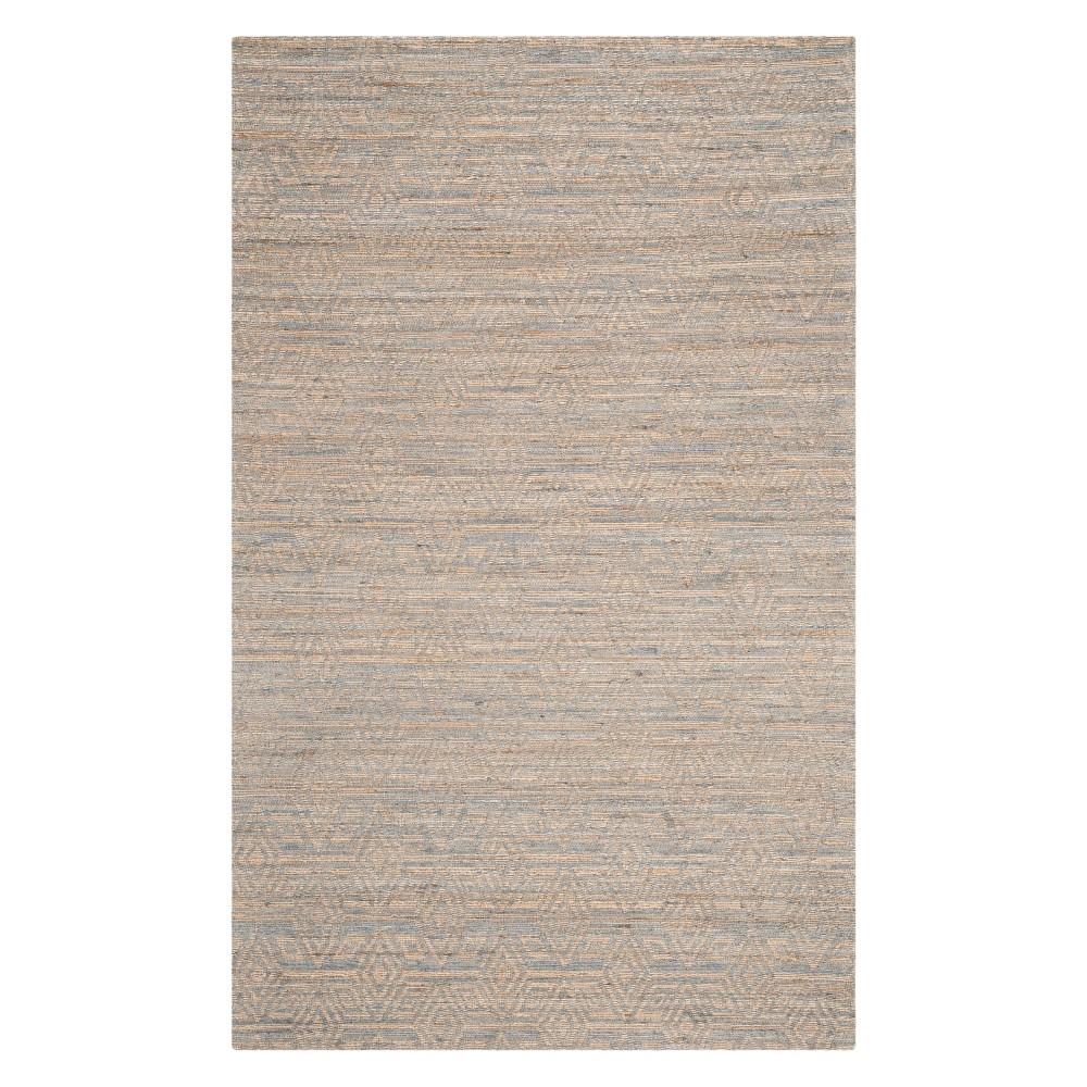 4'X6' Geometric Woven Area Rug Gray/Sand - Safavieh