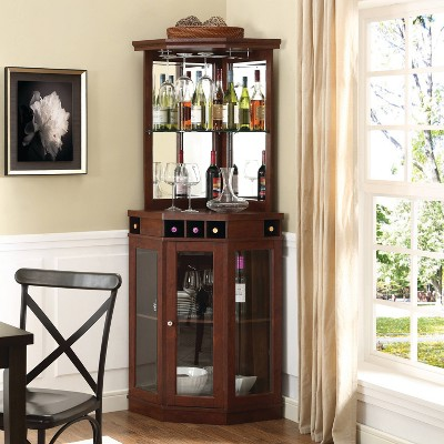 Corner Bar Mahogany - Home Source
