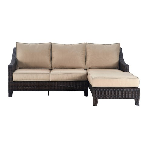 Tahoe Outdoor Chaise Sectional Brown Wicker Serta Target