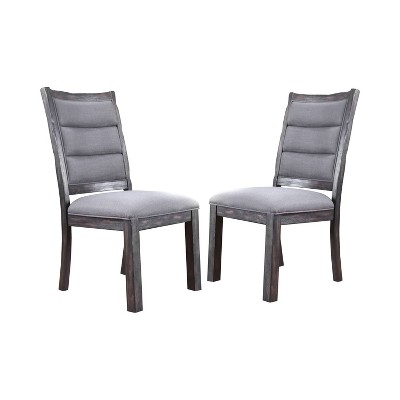 Set of 2 Larimore Rustic Style Dining Chair Antique Gray - HOMES: Inside + Out