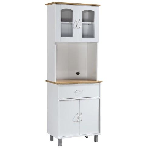 Kitchen Cabinet in White - Hodedah - image 1 of 3