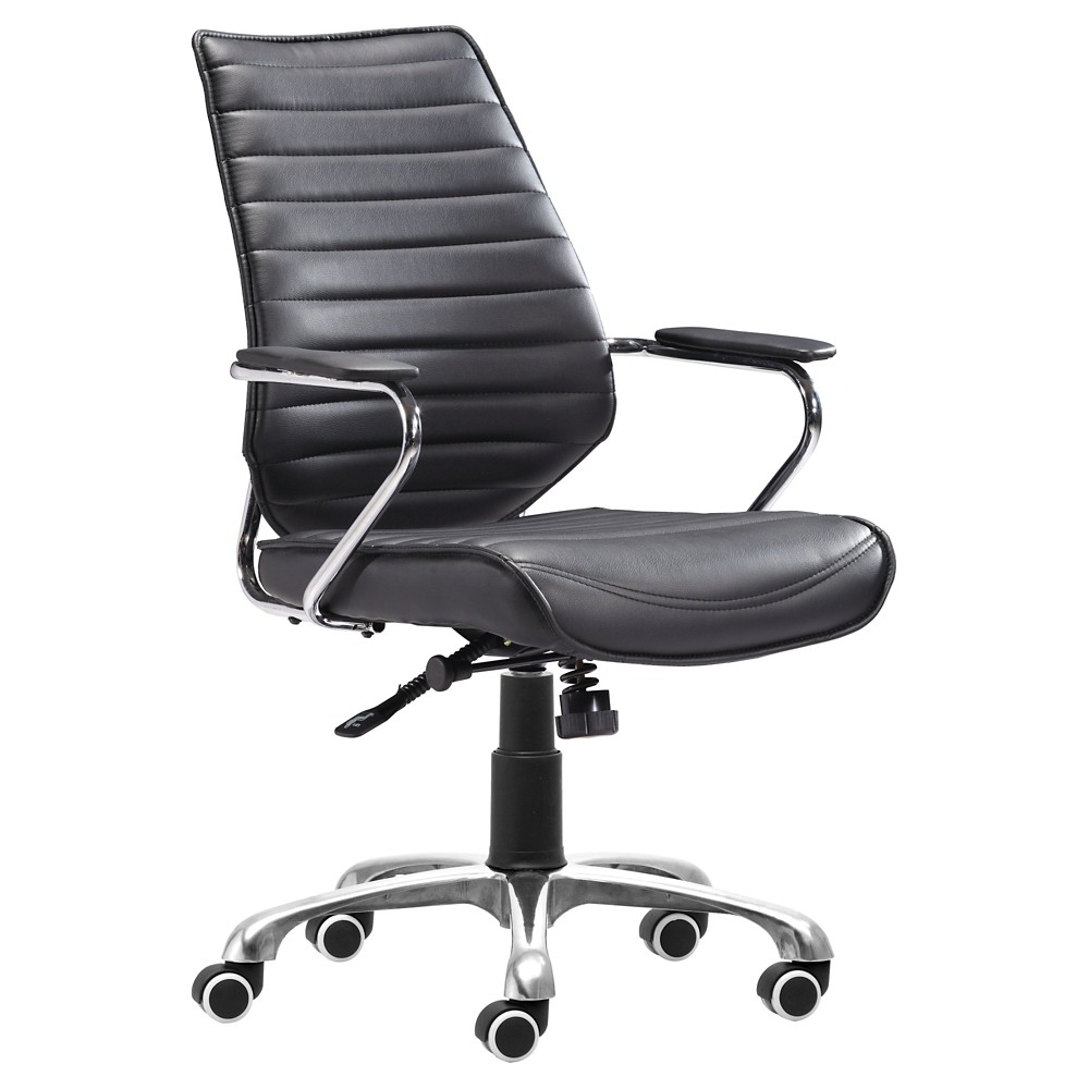 Modern Low Back Adjustable Office Chair - Black - ZM Home