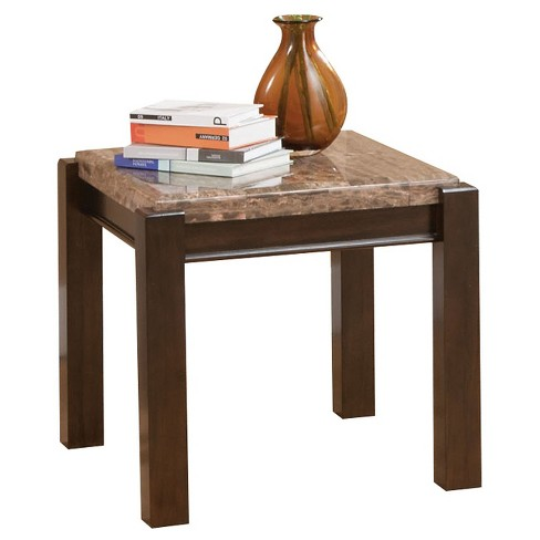 Dwayne End Table Emparedora Gray Marble Top - ACME - image 1 of 2