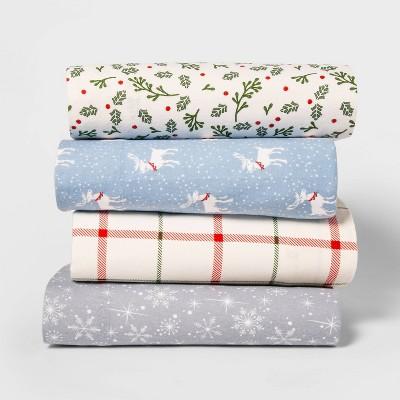 Holiday Print Flannel Sheet Set Wondershop Target