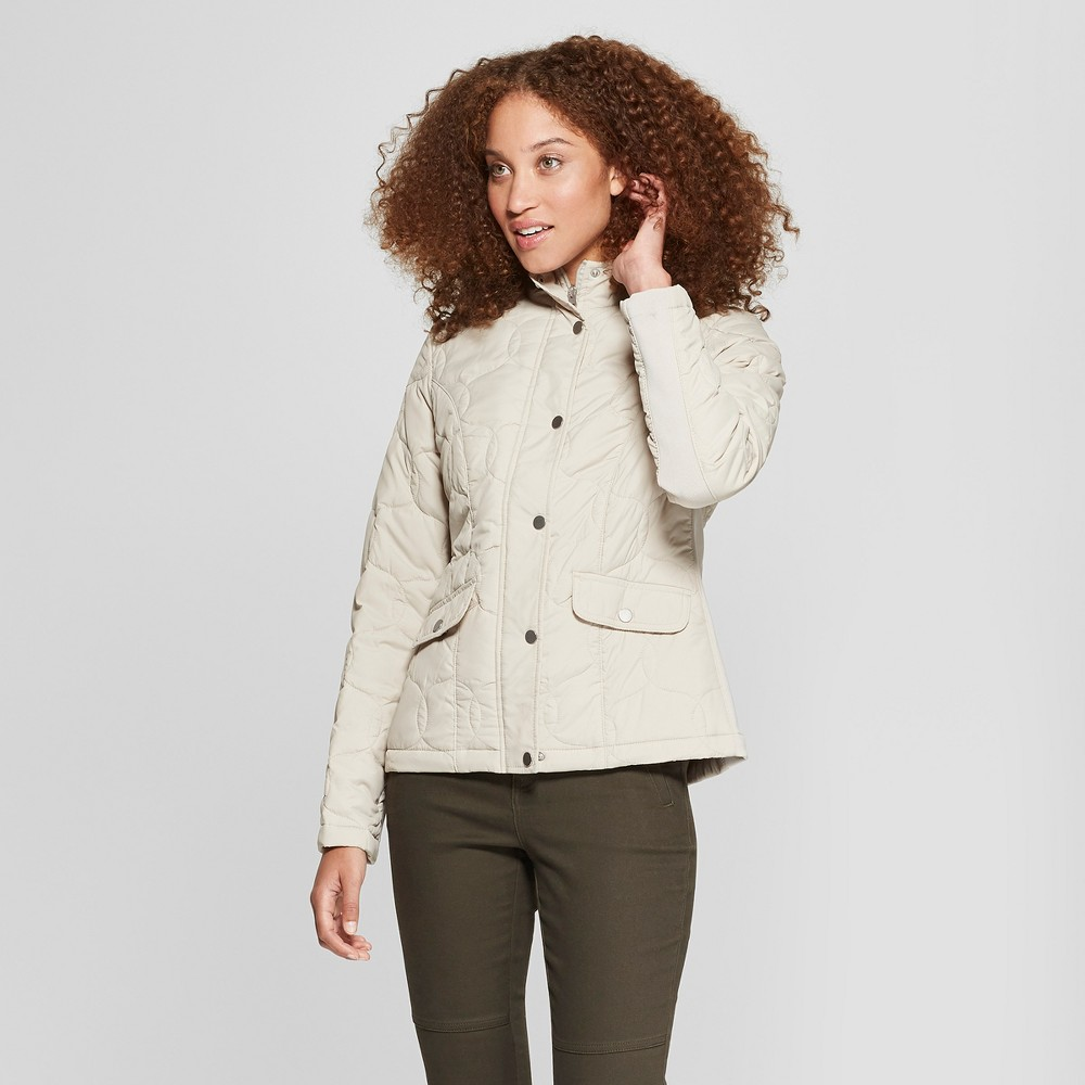 Women's Quilted Jacket - A New Day Cream (Ivory) XS
