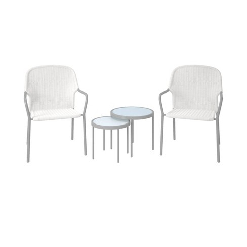 Neesa 4pc Patio Set with Nesting Tables - CosmoLiving - image 1 of 4