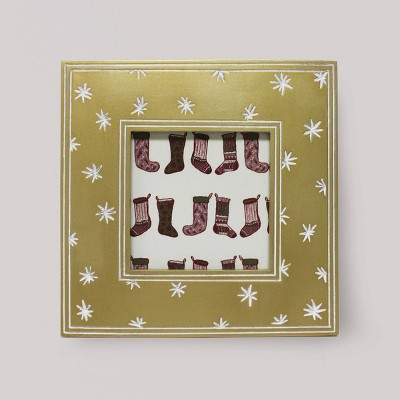 "4"" x 4"" Carved Resin Frame Gold - Opalhouse™"