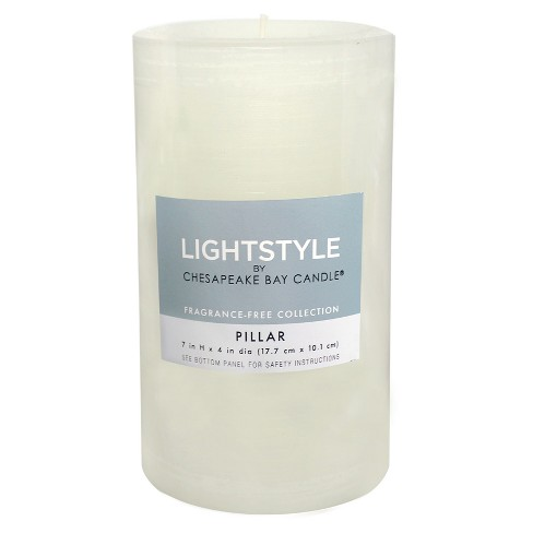 Unscented Pillar Candle White - Chesapeake Bay Candle - image 1 of 1