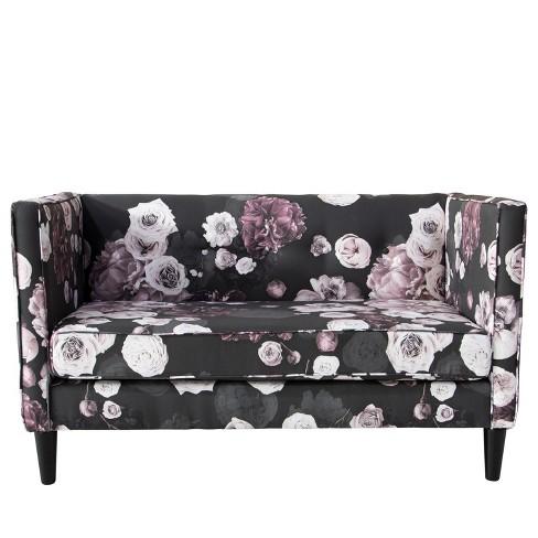Parker Five Button Settee Black Lavender Floral - Cloth & Co. - image 1 of 6