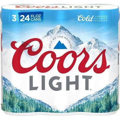 Coors Light Beer - 3pk/24 fl oz Cans