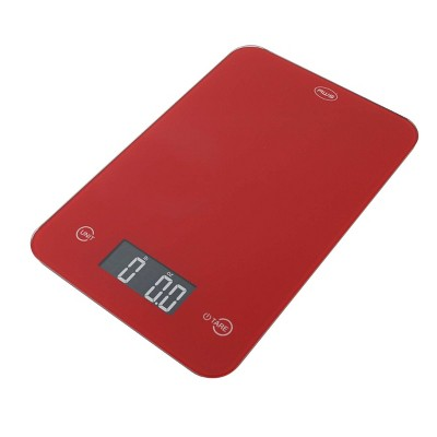 American Weigh Scales Onyx-5K Tempered Glass Kitchen Scale Red