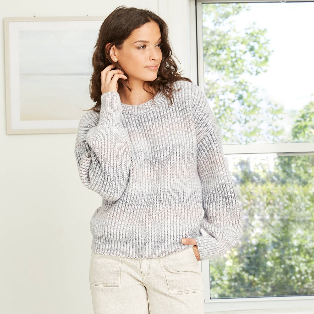 Vintage Sweaters, Retro Sweaters & Cardigan Ladies Womens Crewneck Spacedye Pullover Sweater - Universal Thread Lilac XXL Purple $29.99 AT vintagedancer.com