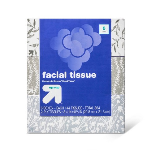 Facial Tissue Bundle - 6pk/144ct - Up&Up™ - image 1 of 1