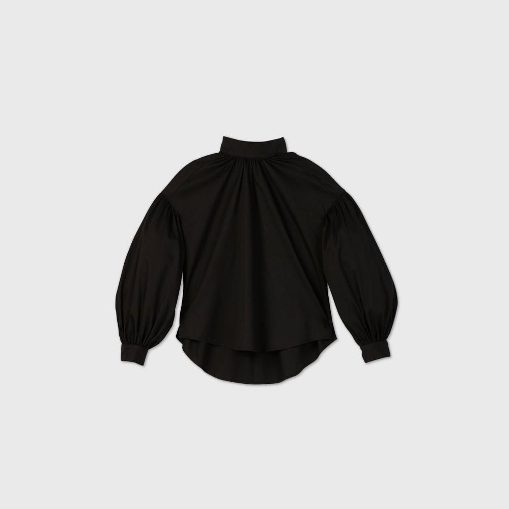 Victorian Blouses, Tops, Shirts, Sweaters Womens Drop Shoulder Balloon Long Sleeve Poplin Blouse - Prologue Black XXL $27.99 AT vintagedancer.com