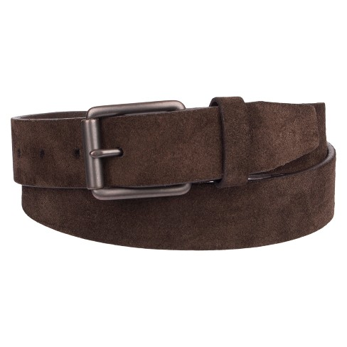 Men's 32mm Basic Suede Belt - Goodfellow & Co™ Brown M - image 1 of 1