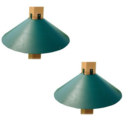 Woodlink Metal Wrap Around Bird House and Feeder Squirrel Baffle Guard for 4 x 4 Inch Pole Post (2 Pack)