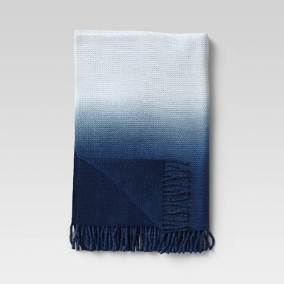 Dip-Dye Knit Throw Navy - Opalhouse™
