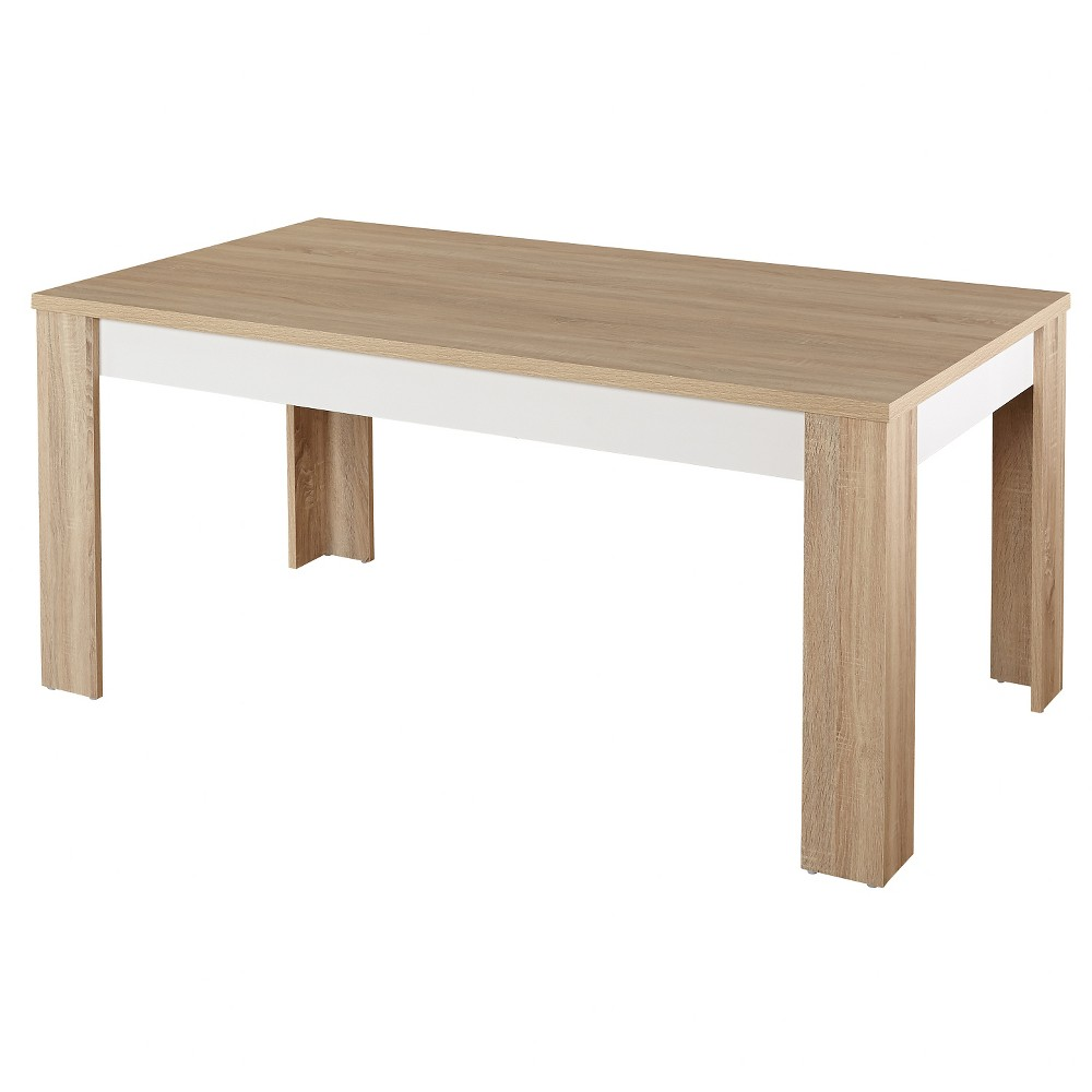 Mandy Dining Table Natural/White - Tms, Multi-Colored