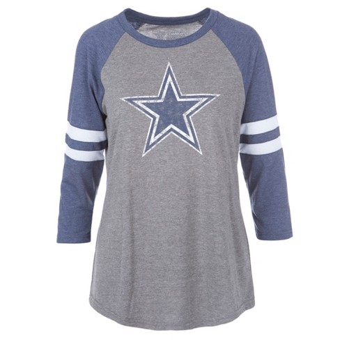 Dallas Cowboys Women's Simba Gray/ Long Sleeve Scoop Neck T-Shirt S - image 1 of 2