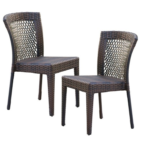 Dusk Set of 2 Wicker Patio Chairs - Multi-Brown - Christopher Knight Home - image 1 of 4