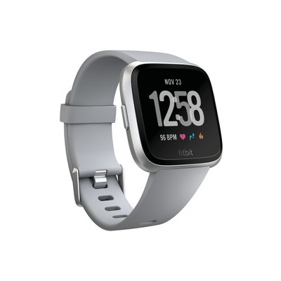 Fitbit Versa Smartwatch with Small & Large Bands - Gray/Silver Aluminum