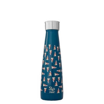 S'ip by S'well 15oz Vacuum Insulated Stainless Steel Hydration Bottle In Pizza We Trust Blue