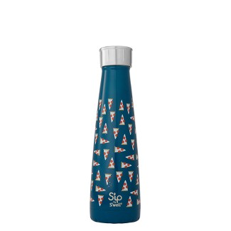 Sip by Swell 15oz Vacuum Insulated Stainless Steel Hydration Bottle In Pizza We Trust Blue