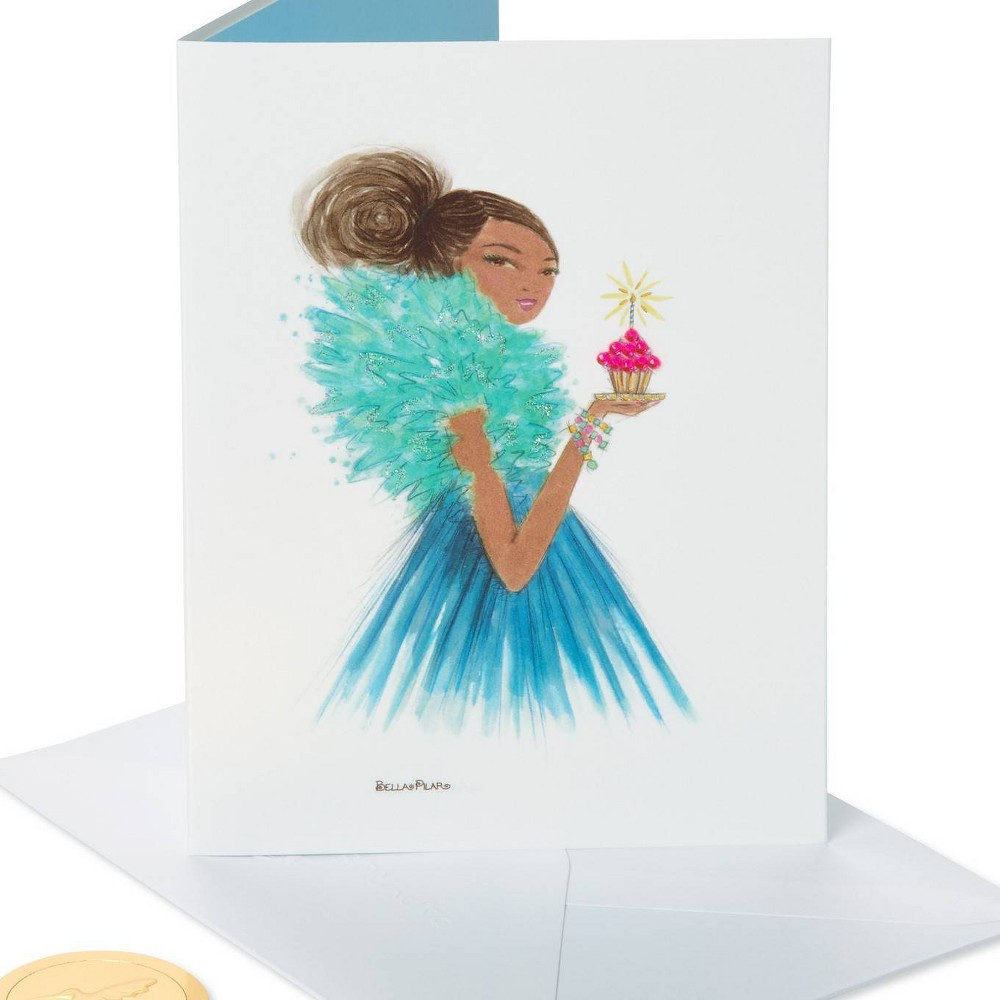 Girl With Cupcake Print Happy Birthday Card Papyrus